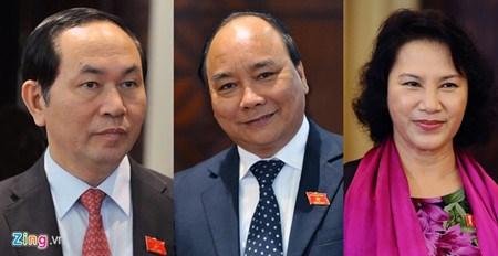 Messages de felicitation aux dirigeants vietnamiens hinh anh 1