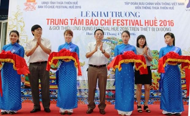 Inauguration du centre de presse pour le Festival de Hue 2016 hinh anh 1
