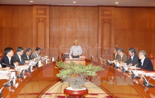 Le leader du PCV demande d'accelerer le traitement de grandes affaires de corruption hinh anh 1