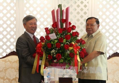 L'ambassadeur du Vietnam felicite le nouveau president du Laos hinh anh 1