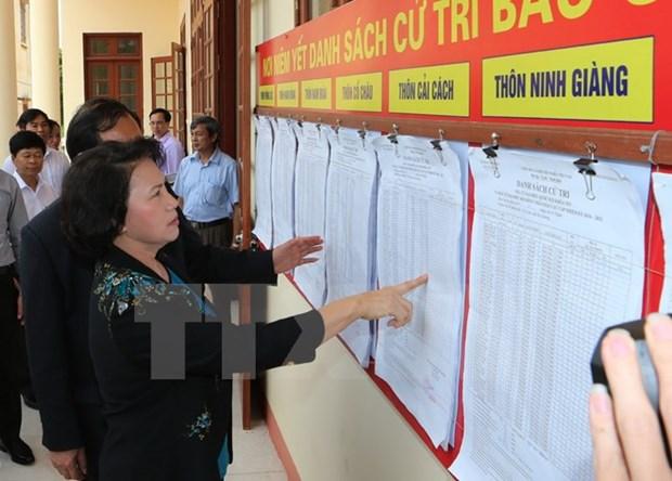 Elections a l'AN et aux Conseils populaires : inspections des preparatifs hinh anh 1