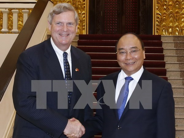 Le secretaire americain a l'Agriculture recu par Nguyen Xuan Phuc hinh anh 1