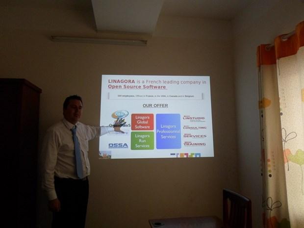 Le Francais Linagora cherche des opportunites de cooperation avec HCM-Ville hinh anh 1