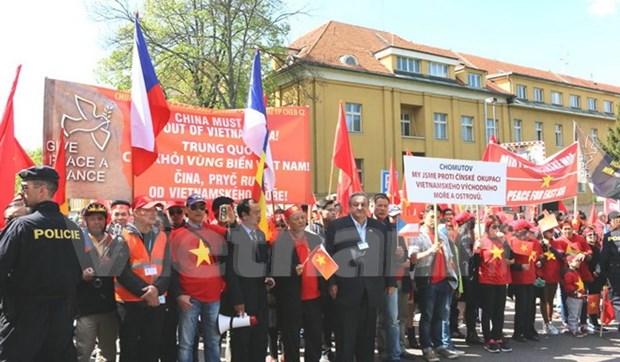 Les Vietnamiens en R.tcheque protestent contre les actes de la Chine en Mer Orientale hinh anh 1