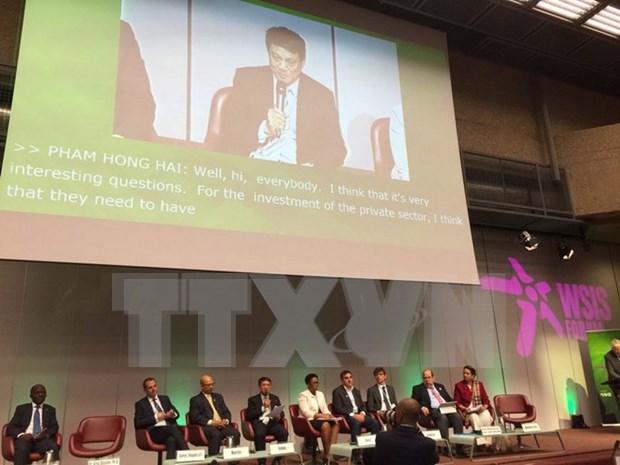 Le Vietnam participe au Forum du Sommet mondial sur la societe de l'information a Geneve hinh anh 1