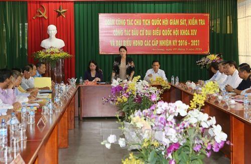 La presidente de l'Assemblee nationale a An Giang hinh anh 1