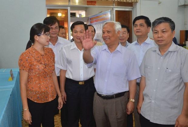 Inspection des preparatifs pour les elections a Bac Lieu et Ca Mau hinh anh 1