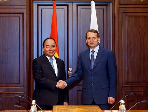 Le Premier ministre Nguyen Xuan Phuc rencontre le president de la Douma d'Etat russe hinh anh 1