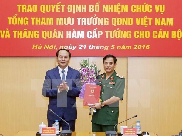 Le general Phan Van Giang nomme a la tete de l'etat-major de l'armee hinh anh 1