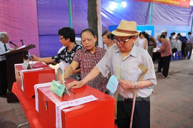 Les electeurs enthousiastes en cette fete des elections hinh anh 1