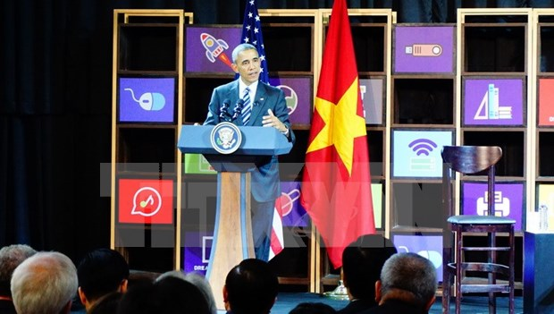 Barack Obama rencontre de jeunes entrepreneurs a Ho Chi Minh-Ville hinh anh 1
