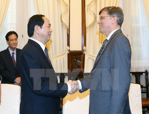 Le president Tran Dai Quang recoit l'ambassadeur d'Australie hinh anh 1