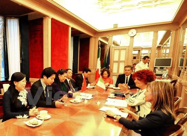 Vietnam et Italie renforcent leur cooperation parlementaire hinh anh 1