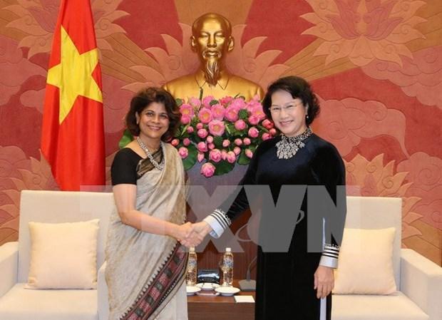 La presidente de l'Assemblee nationale recoit la coordinatrice residente de l'ONU hinh anh 1