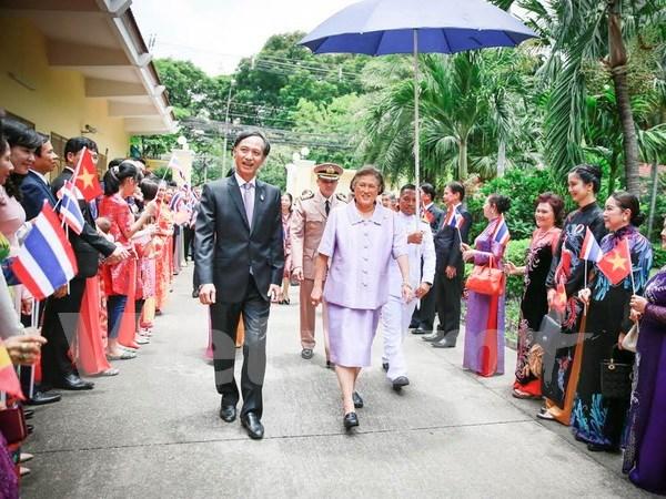 La princesse thailandaise en visite a l'ambassade du Vietnam hinh anh 1
