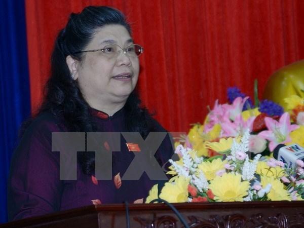 La vice-presidente de l'AN, Tong Thi Phong en visite au Royaume-Uni hinh anh 1