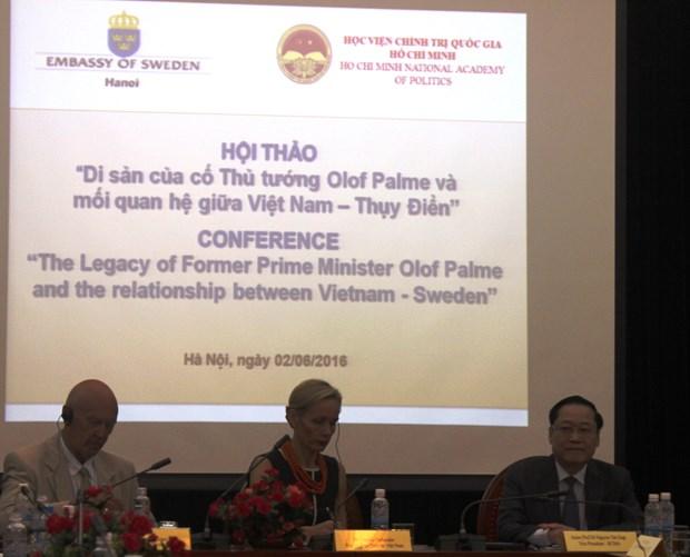 Seminaire sur l'ancien PM Olof Palme et les relations Vietnam-Suede hinh anh 1