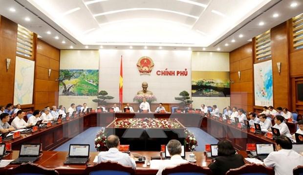 Le gouvernement discute de la situation socio-economique au debut de 2016 hinh anh 1