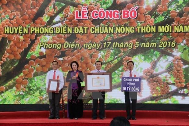 Le district de Phong Dien repond aux criteres de la Nouvelle ruralite hinh anh 1