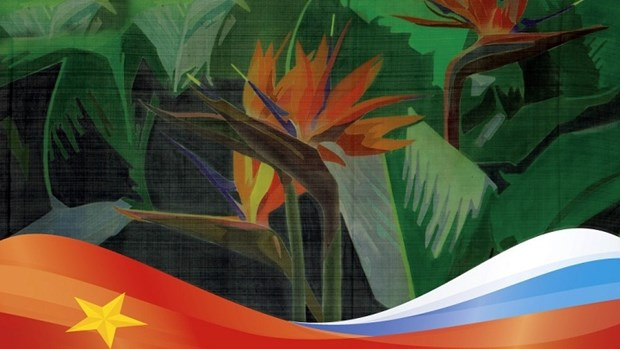 Des peintures vietnamiennes sur soie presentees en Russie hinh anh 1