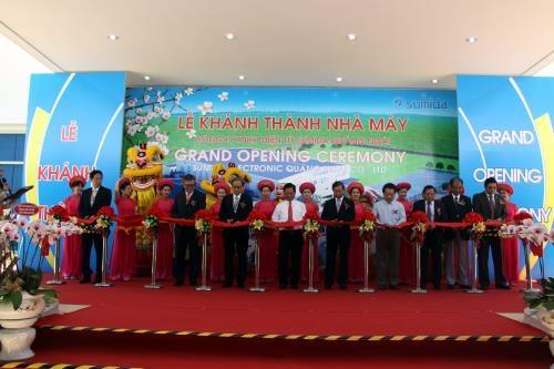 Inauguration d'une usine japonaise de fabrication de composants electroniques a Quang Ngai hinh anh 1