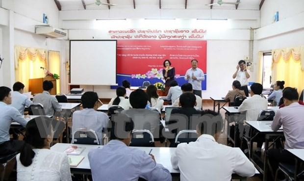 Presse: le Vietnam aide a ameliorer la qualification professionnelle des journalistes laotiens hinh anh 1