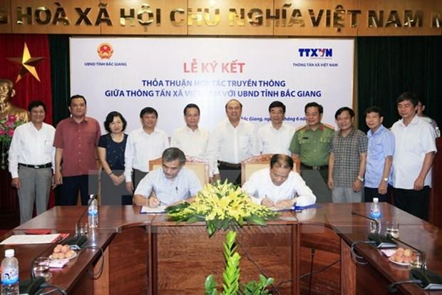 La VNA et Bac Giang cooperent dans le domaine de la communication hinh anh 1