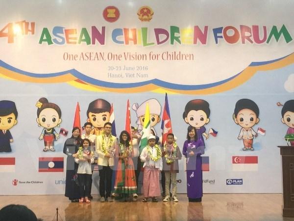 Le 4e Forum des enfants de l'ASEAN a Hanoi hinh anh 1