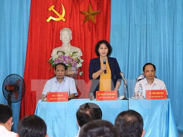 La presidente de l'Assemblee nationale Nguyen Thi Kim Ngan se rend a Bac Kan hinh anh 1