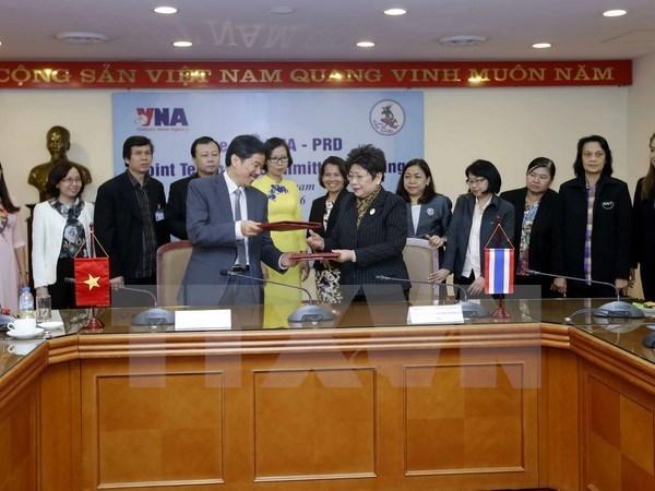 Vietnam-Thailande : VNA et PRD intensifient leur cooperation dans la communication hinh anh 1