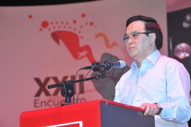 Le Parti communiste du Vietnam au 22e Forum de Sao Paulo au Salvador hinh anh 1