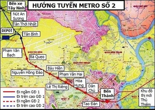 Ho Chi Minh-Ville va accelerer la construction de la ligne de metro N°2 hinh anh 1