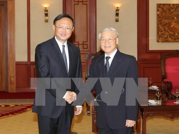 Des dirigeants vietnamiens rencontrent le conseiller d'Etat chinois Yang Jiechi hinh anh 1