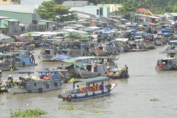 Can Tho: Fete touristique du marche flottant de Cai Rang hinh anh 1