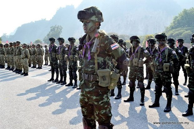 Exercice militaire commun Thamal entre la Thailande et la Malaisie hinh anh 1