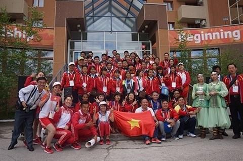 Jeux sportifs internationaux des enfants d'Asie : cinq medailles d'or pour le Vietnam hinh anh 1