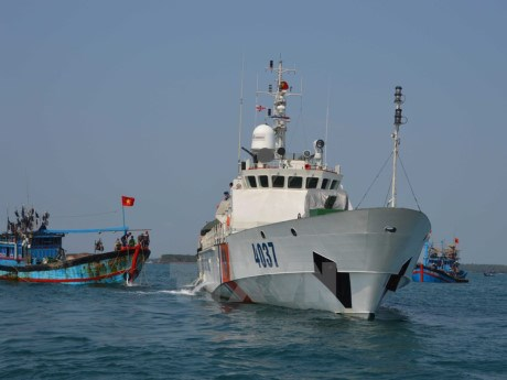 Protestation apres l'attaque chinoise d'un bateaux de peche vietnamien hinh anh 1
