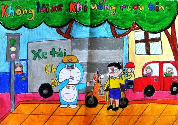 Concours « Doraemon et la securite routiere » au Vietnam 2016 hinh anh 1