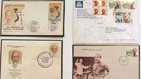 Les timbres postaux a l'effigie du President Ho Chi Minh hinh anh 1