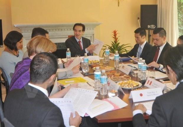 Les membres du TPP et le Mexique stimulent leurs relations commerciales hinh anh 1
