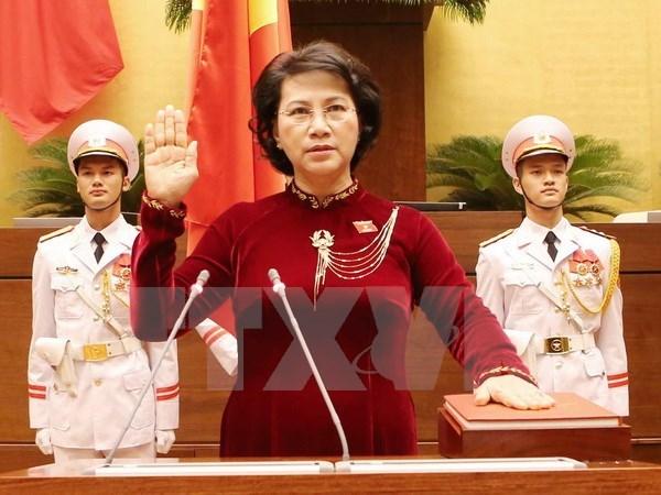 AN de la 14e legislature : Mme Nguyen Thi Kim Ngan elue presidente de l'Assemblee nationale hinh anh 1