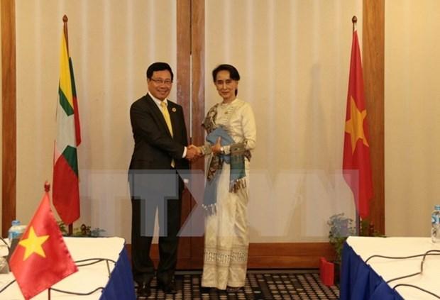 Vietnam et Myanmar conviennent de dynamiser leur cooperation hinh anh 1