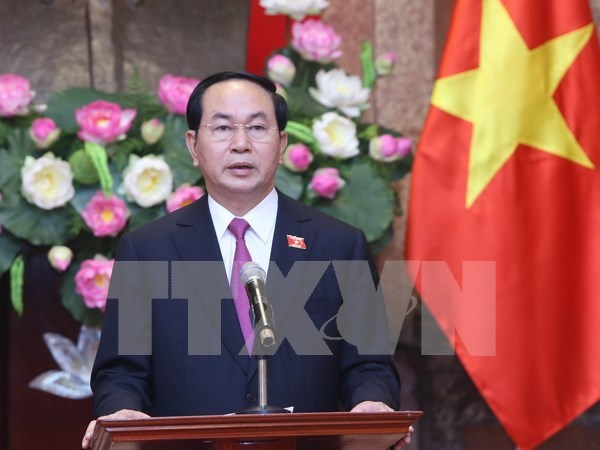 Le president Tran Dai Quang souligne les missions de son mandat hinh anh 1