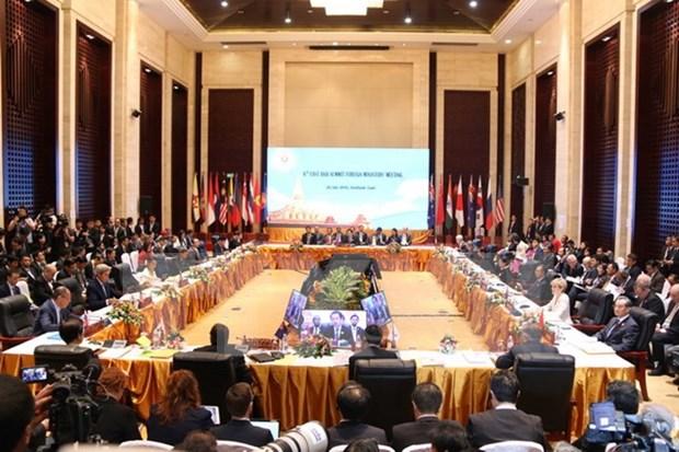 Le Vietnam avance plusieurs idees lors de conferences entre ASEAN et partenaires hinh anh 1
