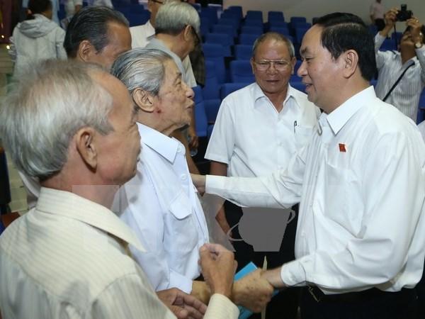 Le chef de l'Etat rencontre des electeurs de Ho Chi Minh-Ville hinh anh 1