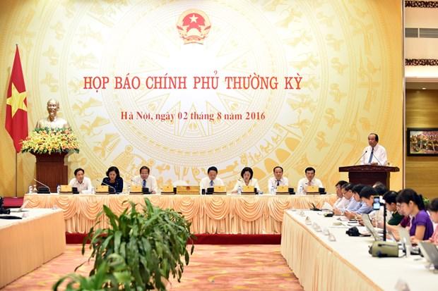 Gouvernement : point presse periodique de juillet sur les questions brulantes hinh anh 1