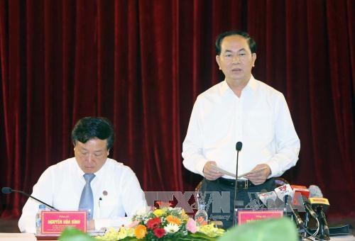Le chef de l'Etat souligne la primaute du droit hinh anh 1