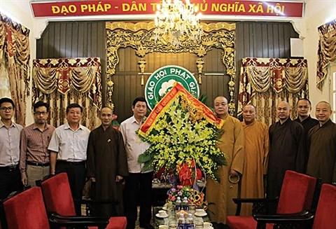 Vœux a l'Eglise bouddhique du Vietnam a l'occasion de la fete Vu Lan hinh anh 1
