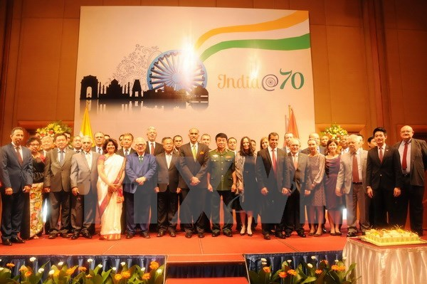 La Journee de l'Independance de l'Inde fetee a Hanoi hinh anh 1