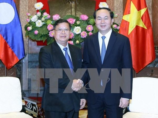 Le chef de l'Etat recoit le vice-president de l'Assemblee nationale laotienne hinh anh 1
